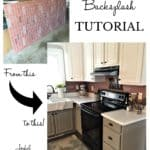 Faux Brick Backsplash DIY Tutorial