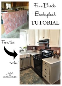Brick Backsplash Tutorial