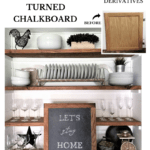 Chalkboard from a Cabinet Door DIY Tutorial