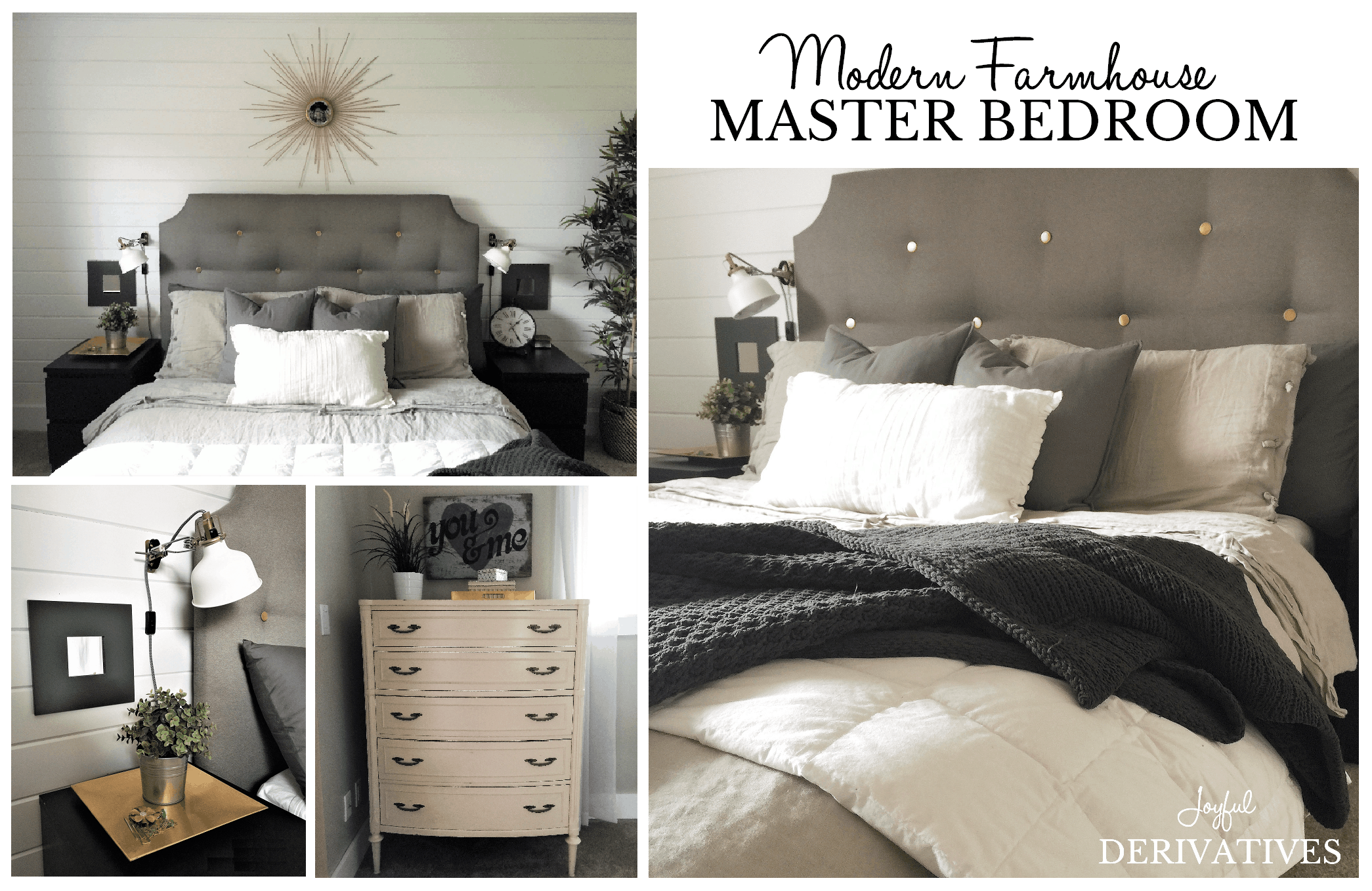 Modern Farmhouse Master Bedroom Tour Joyful Derivatives