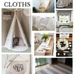 Creative DIY Projects using Drop Cloths