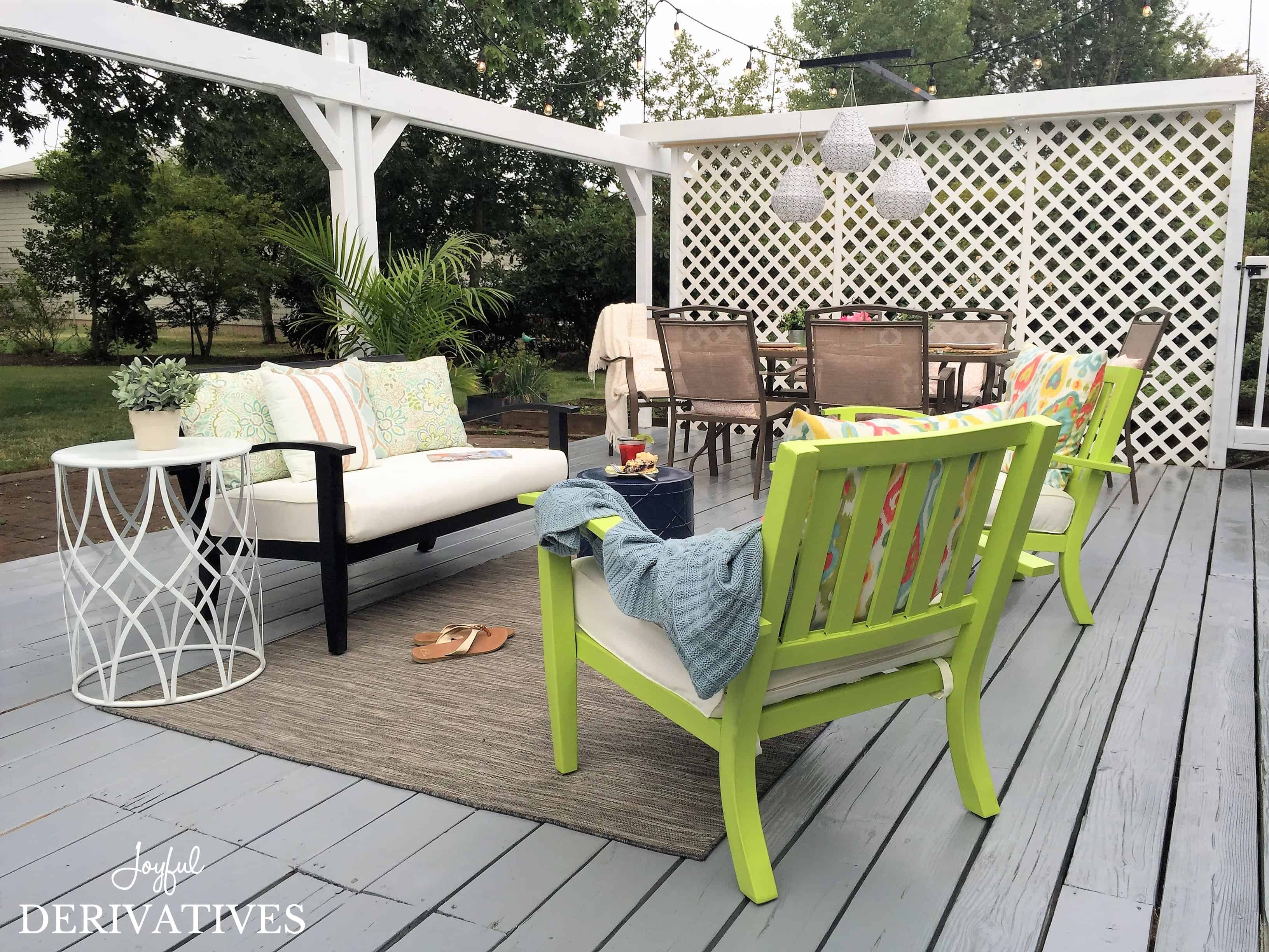 backyard makeover chronicles patio furniture refresh for under
